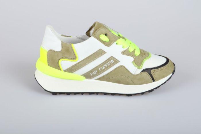 Hip Shoe Style H1715-212-65CO veterschoen wit/kaki