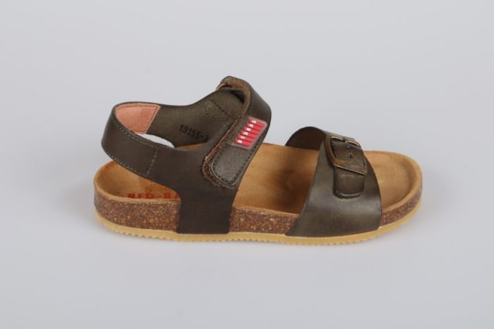 Red Rag 19155-557 sandaal brushed/washed kaki