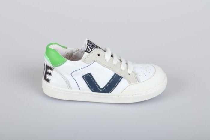 Shoesme UR21S043-A veterschoen white cobalt