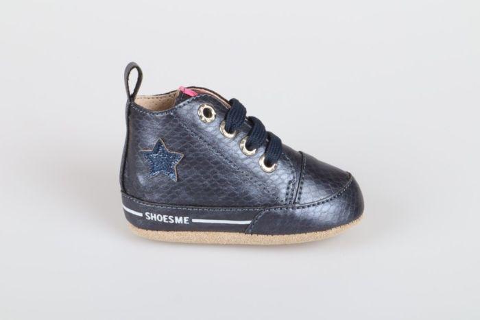 Shoesme BS9A003-B slof blauw snake