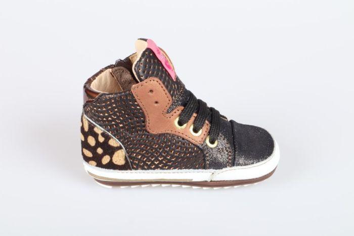 Shoesme BP21W011-A veterschoen black/bronze