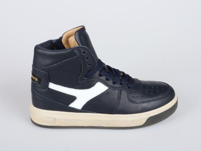 Hip H1174-214-46LE-30LE hoge sneaker donker blauw