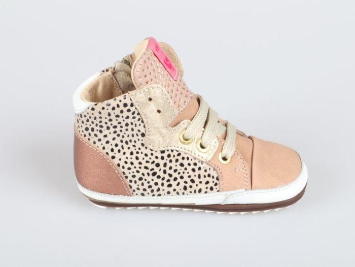 Shoesme BP21W011-B babyproof beige pinkgold
