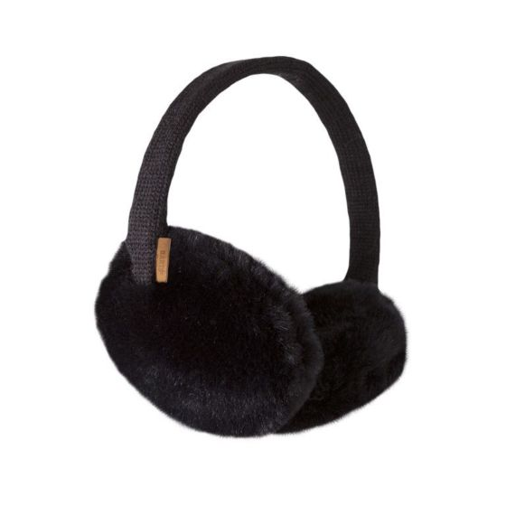 Barts 0169001 plush earmuffs black-One Size