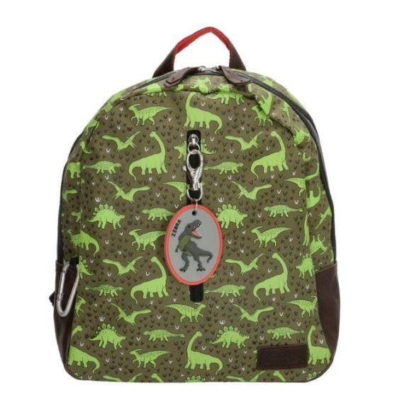 Zebra 103011 rugzak groen dino's-One Size